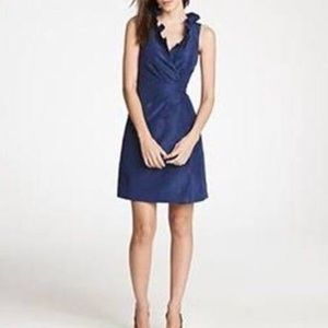 J Crew Navy Silk Bridesmaid Dress